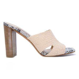 Python slipper with woven upper