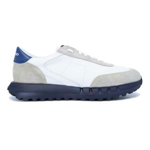 Vintage-U sneakers with blue sole