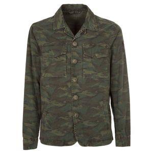 Camouflage shirt jacket
