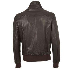 Chel leather bomber