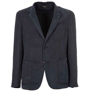 Garment Dyed jacket in linen blend