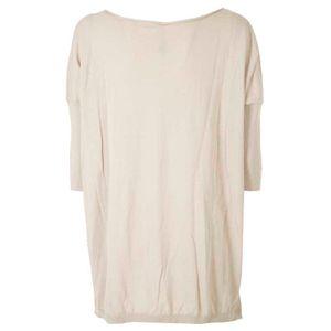 Asymmetrical cotton pullover