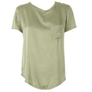 Silk T-Shirt with pocket