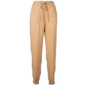 Viscose jogger trousers