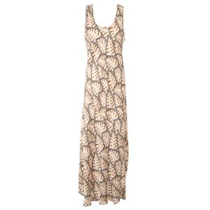 Long dress in printed silk