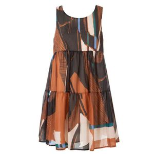 Short dress in printed cotton