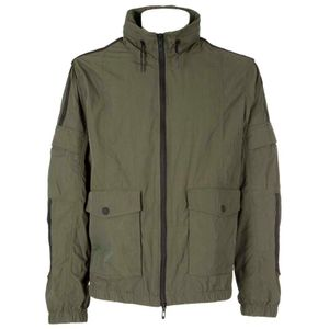 Green jacket in stretch fabric