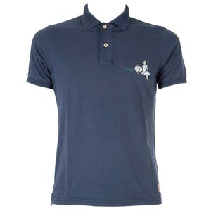 Back cotton polo shirt
