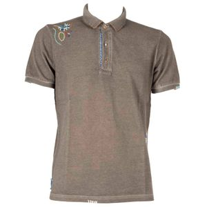 Ricky polo shirt with embroidered flowers
