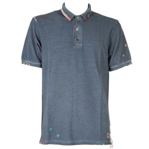 Ricky polo shirt with embroidered collar