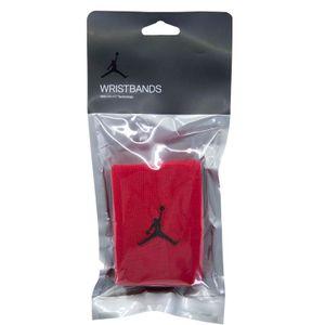 Red Dri-Fit cuff with logo