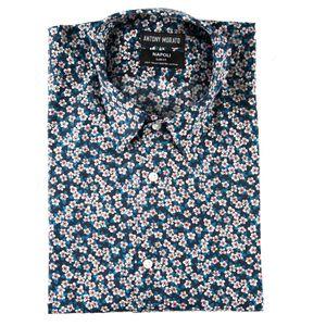 Napoli blue floral shirt