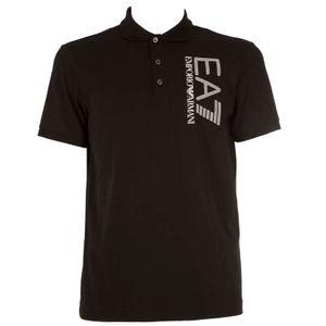 Stretch cotton polo shirt with logo