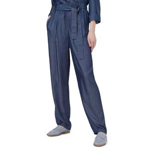 Flare trousers with sash