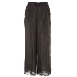 Wide silk trousers