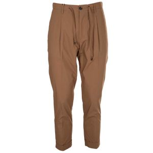 Stretch cotton trousers with laces