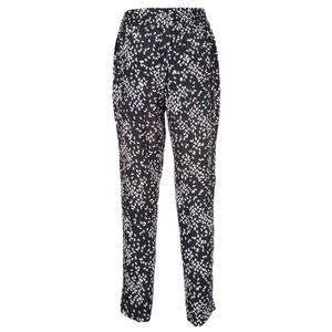 Avion blue trousers with all-over white leaves print