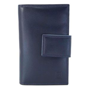 Navy blue genuine leather notebook
