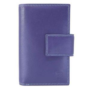 Purple genuine leather notebook