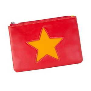 Red coin purse with star
