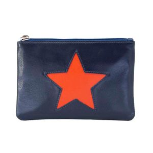 Blue coin purse with star