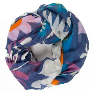 Cotton and cashmere scarf