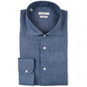 Modern fit denim effect shirt