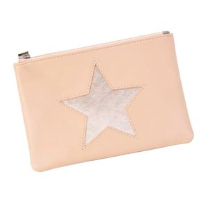 Pink coin purse with star