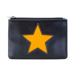 Black purse with orange star