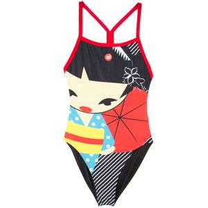 Crazy Kokeshi Lightech Back one-piece swimming suit