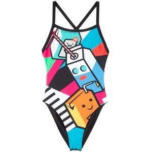 Crazy Milkshake X Criss Cross Back one-piece swimsuit