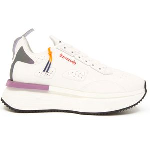 Maxi sneakers in white leather