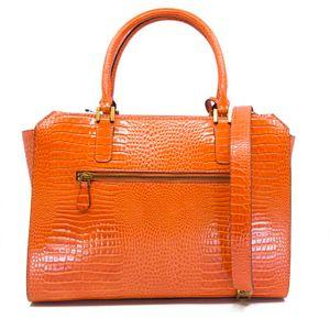 Raffie bag with crocodile print