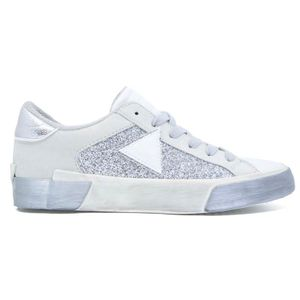 Used effect sneakers with glitter