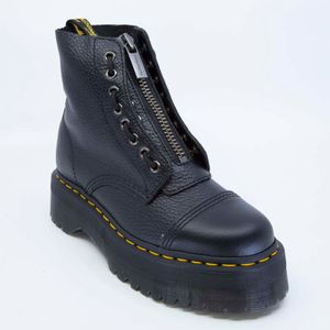 Sinclair black textured leather boots