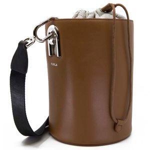 Bucket bag S Lipari Cognac