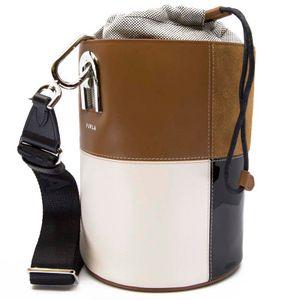 S Lipari ColorBlock bucket bag