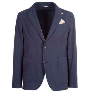 Blue jacket in stretch cotton
