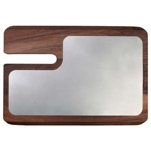 Red Line cutting board with stainless steel plate