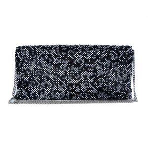Clutch bag with sparkling rhinestones