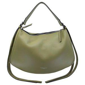 Darleen green leather shoulder bag