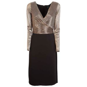Short dress with drapery and golden top
