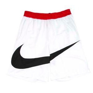 White dri-fit shorts with mustache