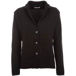 Three-button wool and cashmere cardigan
