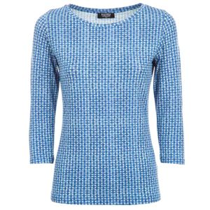 Checked printed viscose sweater