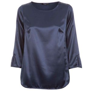Solid color satin blouse