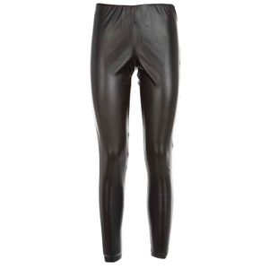 Black Bird leggings in faux leather