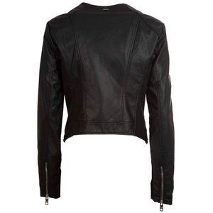 Click faux leather biker jacket