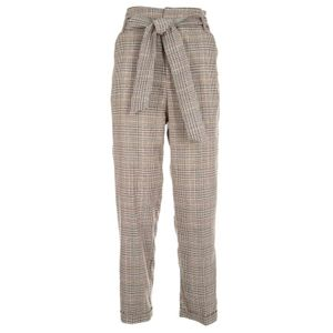 Everyday checked trousers with belt