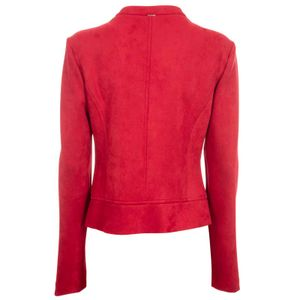 Suede jacket with rouches